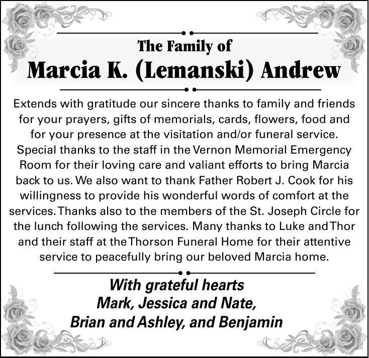 Marcia K. (Lemanski) Andrew