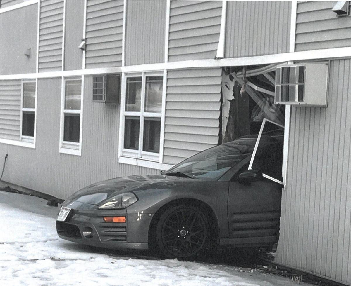 Vehicle crashes into building