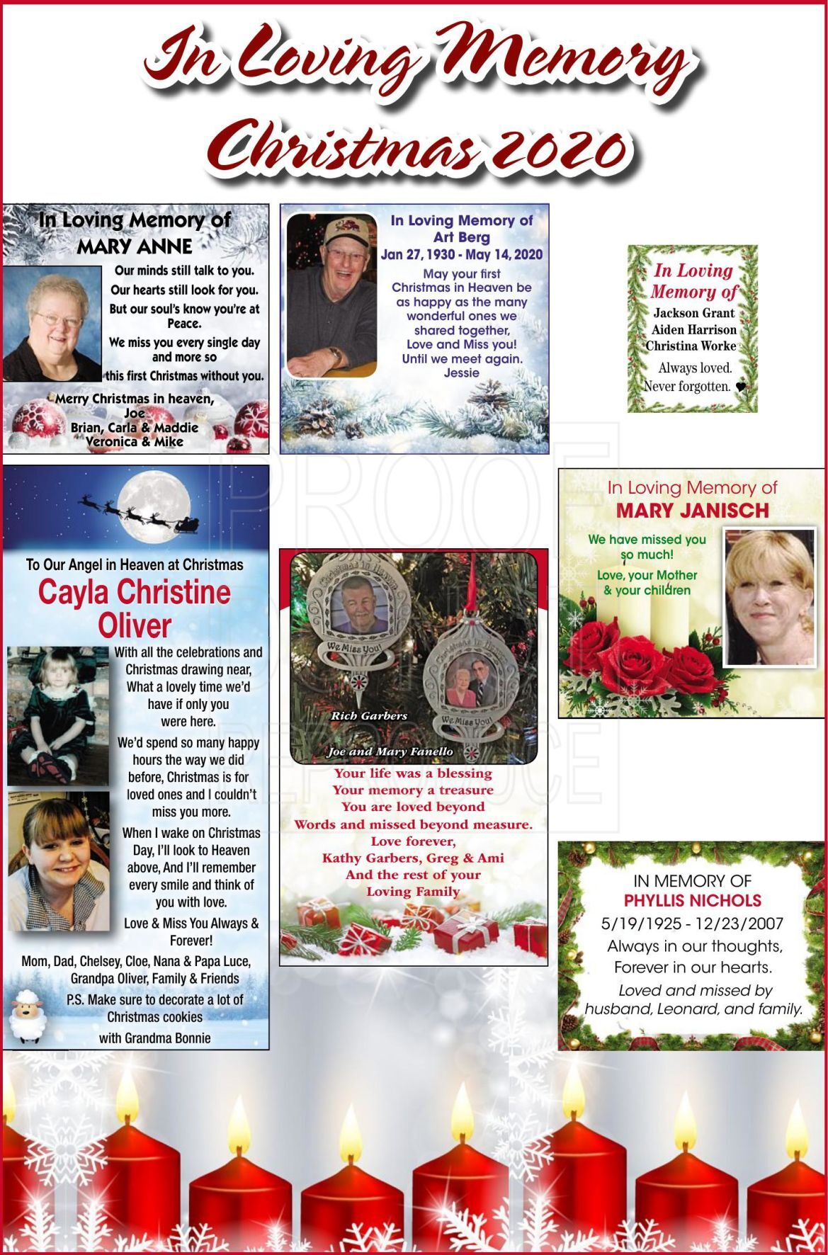 Christmas In Loving Memory