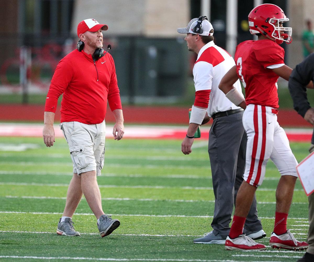 Logan football coach Casey Knoble