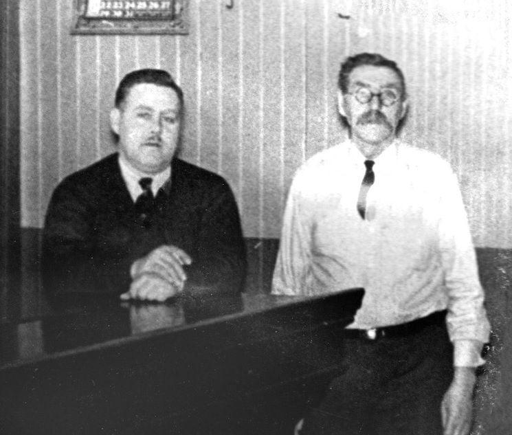 Ralph Borgen and his father, E.T. Borgen