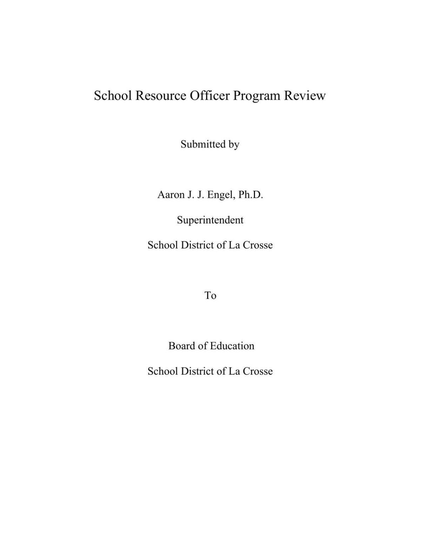 SRO Program Evaluation Report