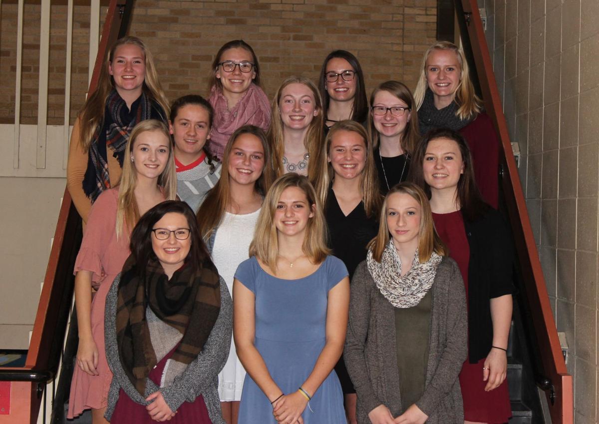 Viroqua High School volleyball letter winners