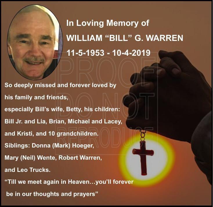 """William """"Bill"""" G. Warren"""