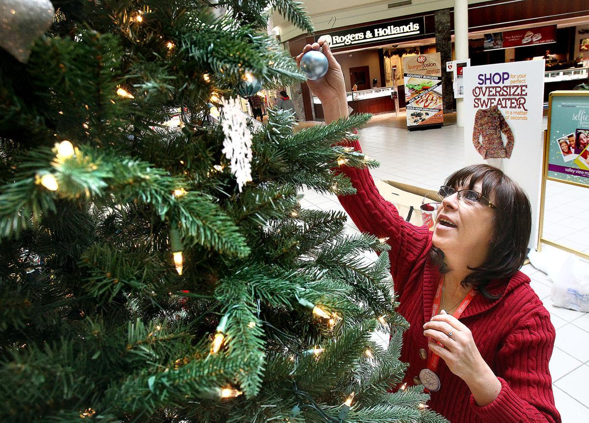 Salvation Army Giving tree bedecked with kids' names to
