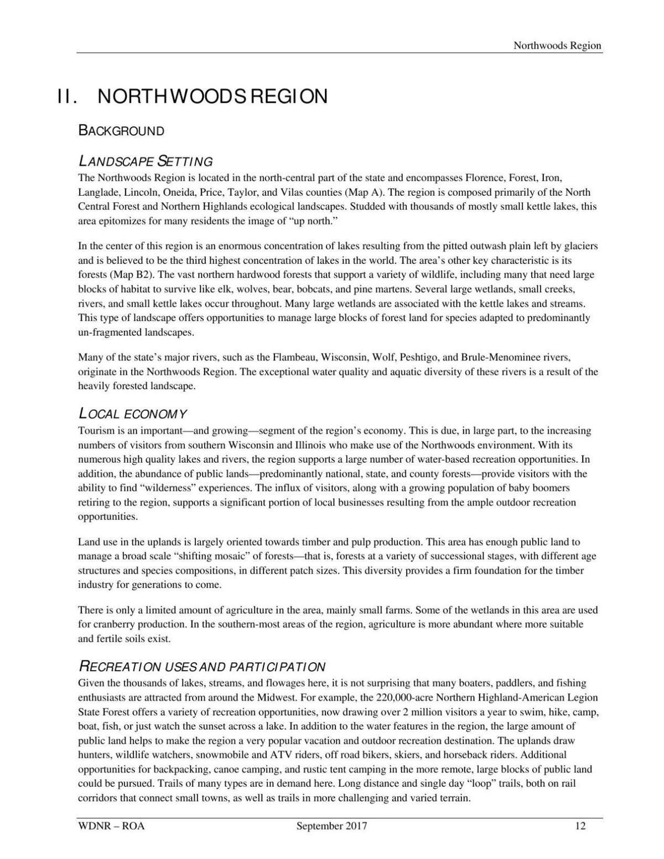 2017 DNR Recreational Opportunities Analysis