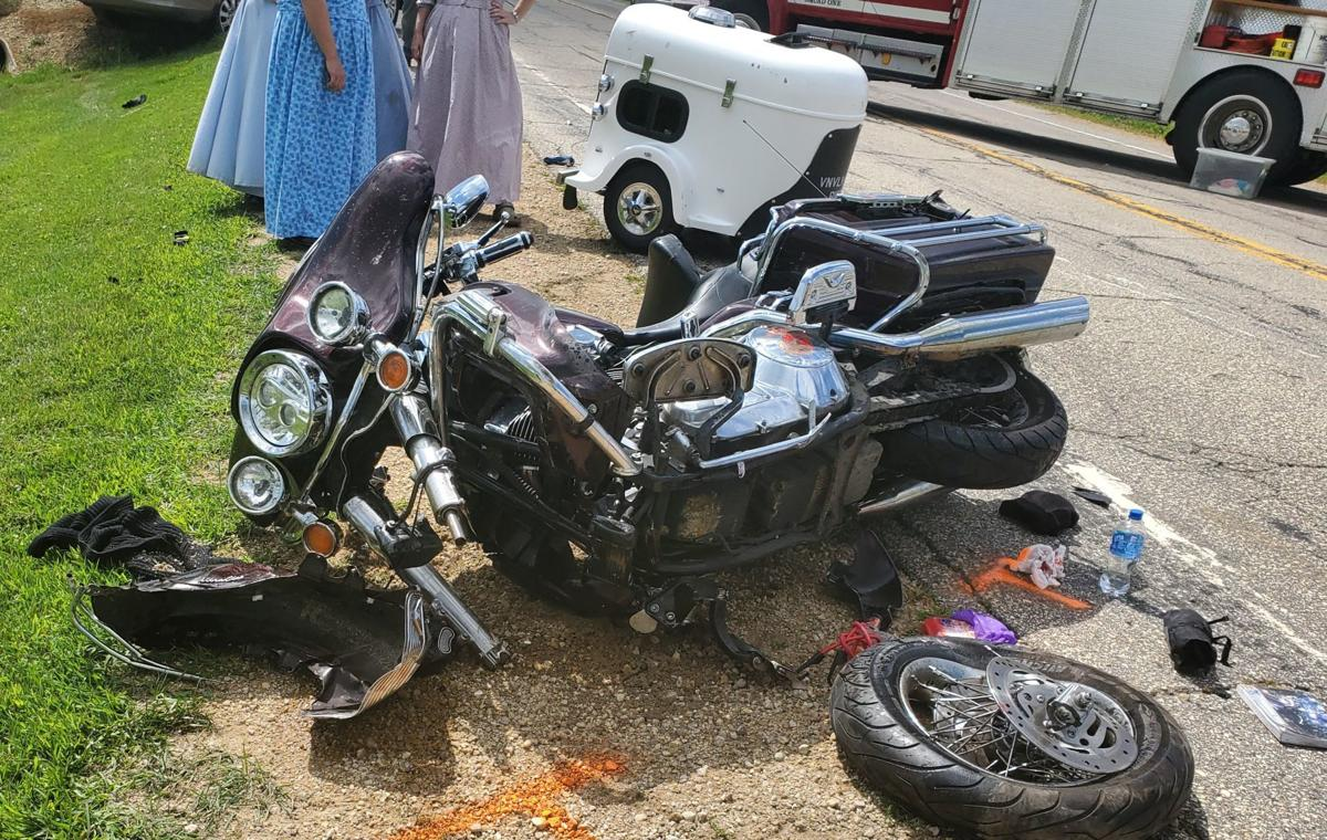 Van vs. motorcycle accident