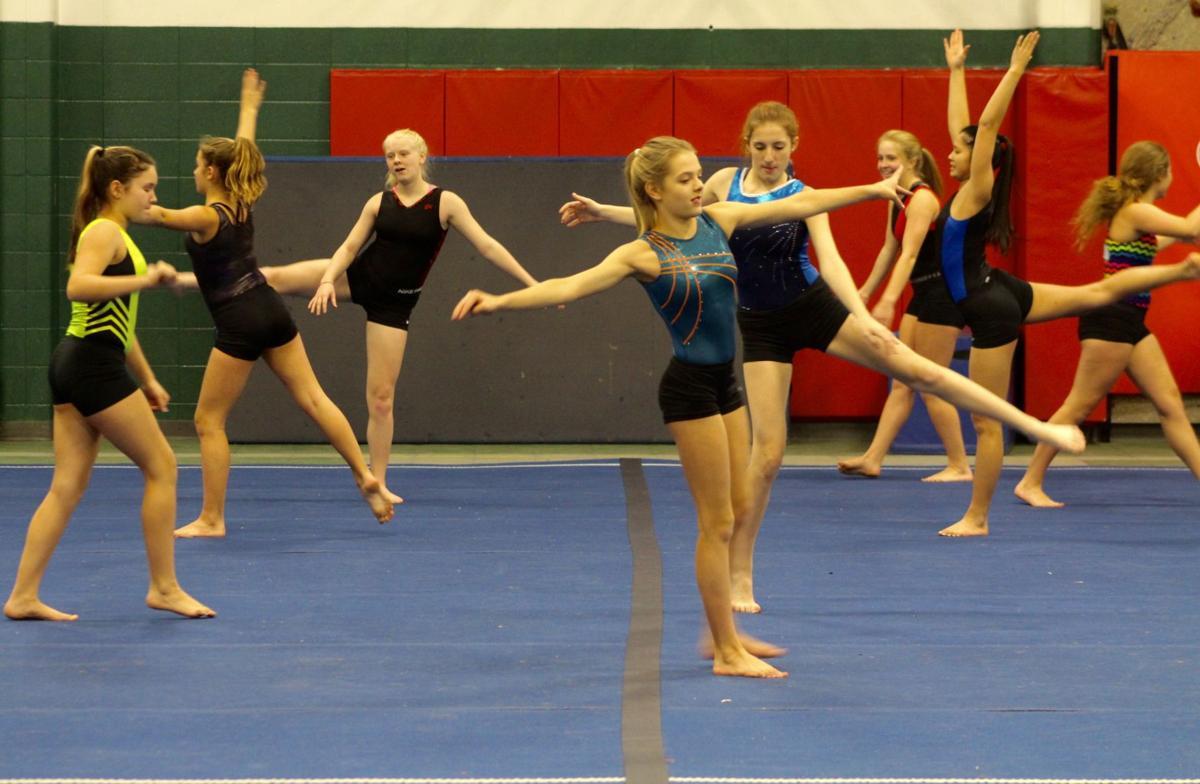 Lancer gymnastics practice