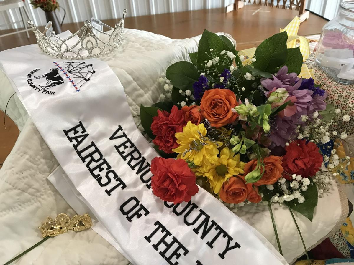 Vernon County Fairest of the Fair sash and crown