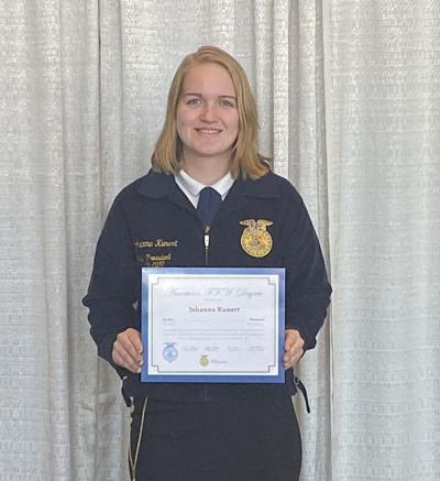 American FFA Degree recipient
