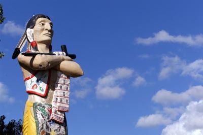 Hiawatha statue
