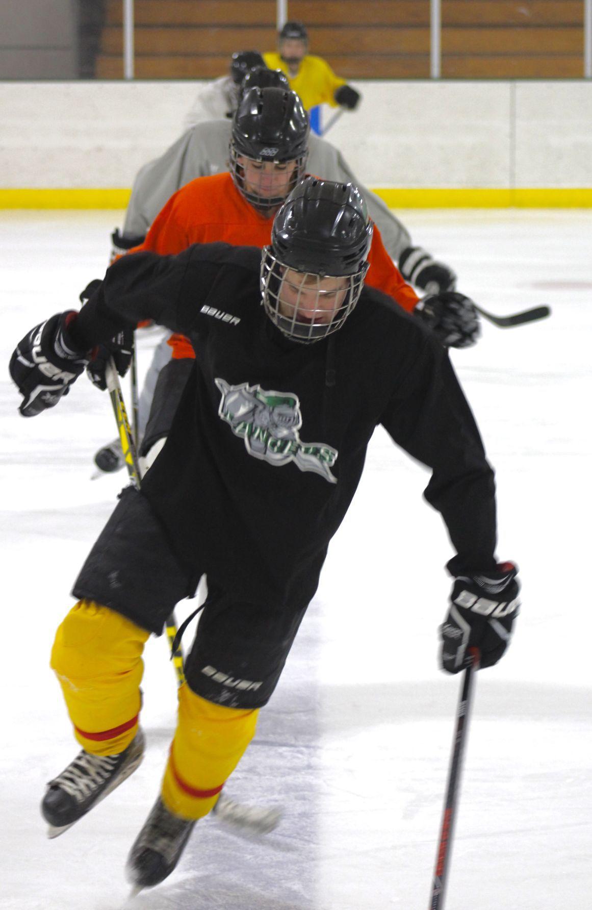 La Crescent High School hockey first practice