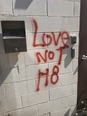 Downtown businesses, church damage by graffiti