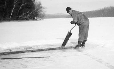 The Way it Was: Harvesting ice