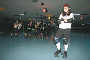 Rowe finds her niche in roller derby