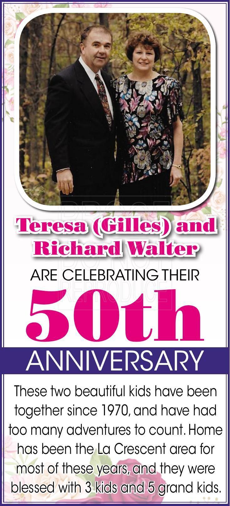 Richard and Teresa Walter 50th Anniversary