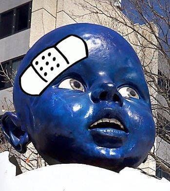 Blue Baby bandaged