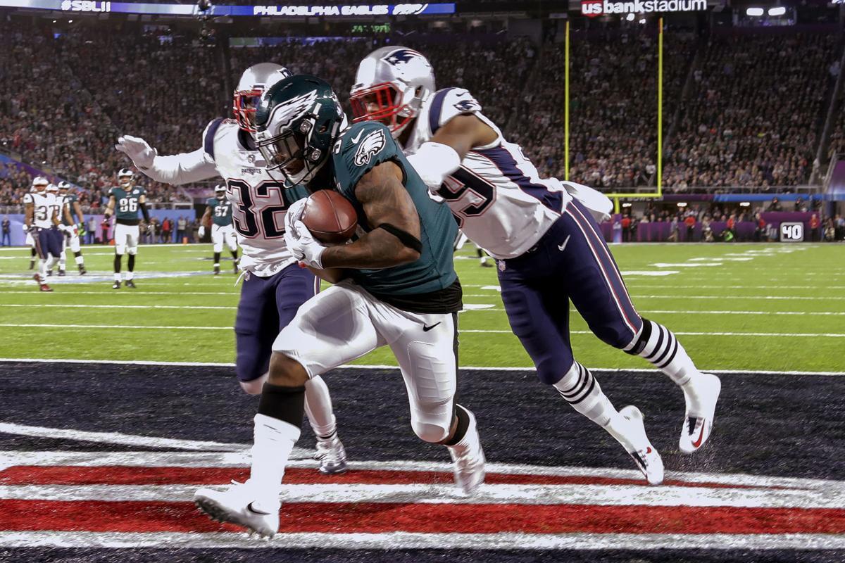 Corey Clement TD catch, Super Bowl 52, AP photo