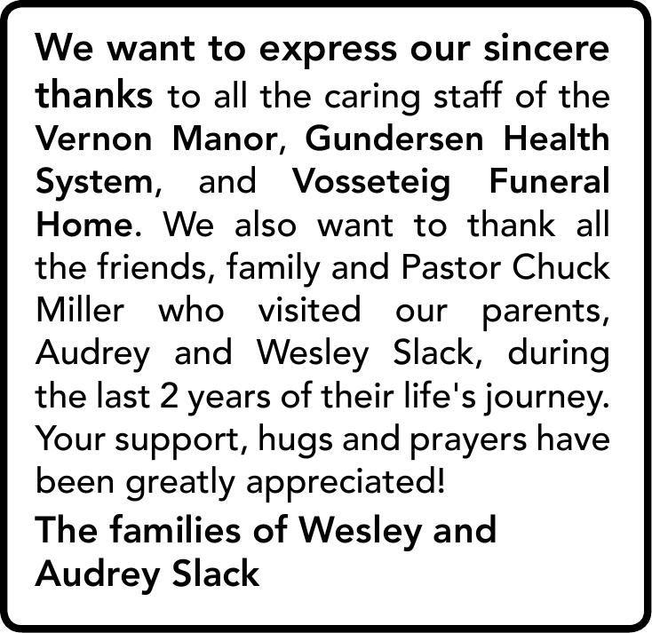 Wesley and Audrey Slack