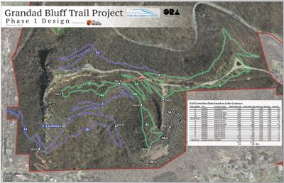 New Grandad Bluff Trail map