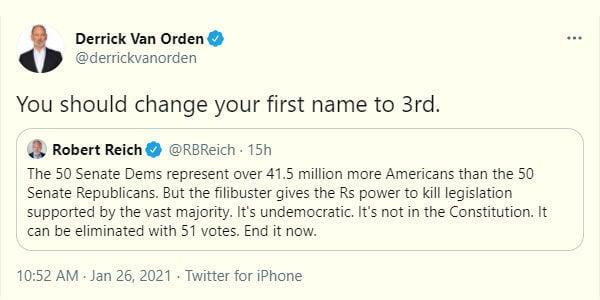 Derrick Van Orden tweet