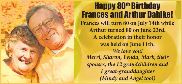 Frances and Arthur Dahlke