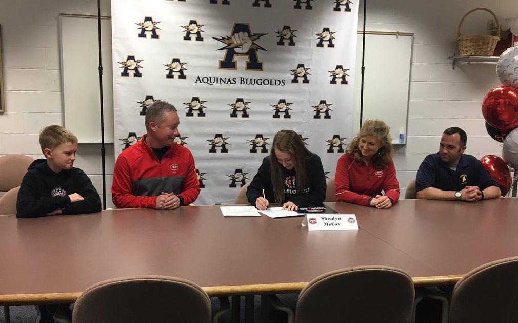 Aquinas' Shealyn McCoy signs