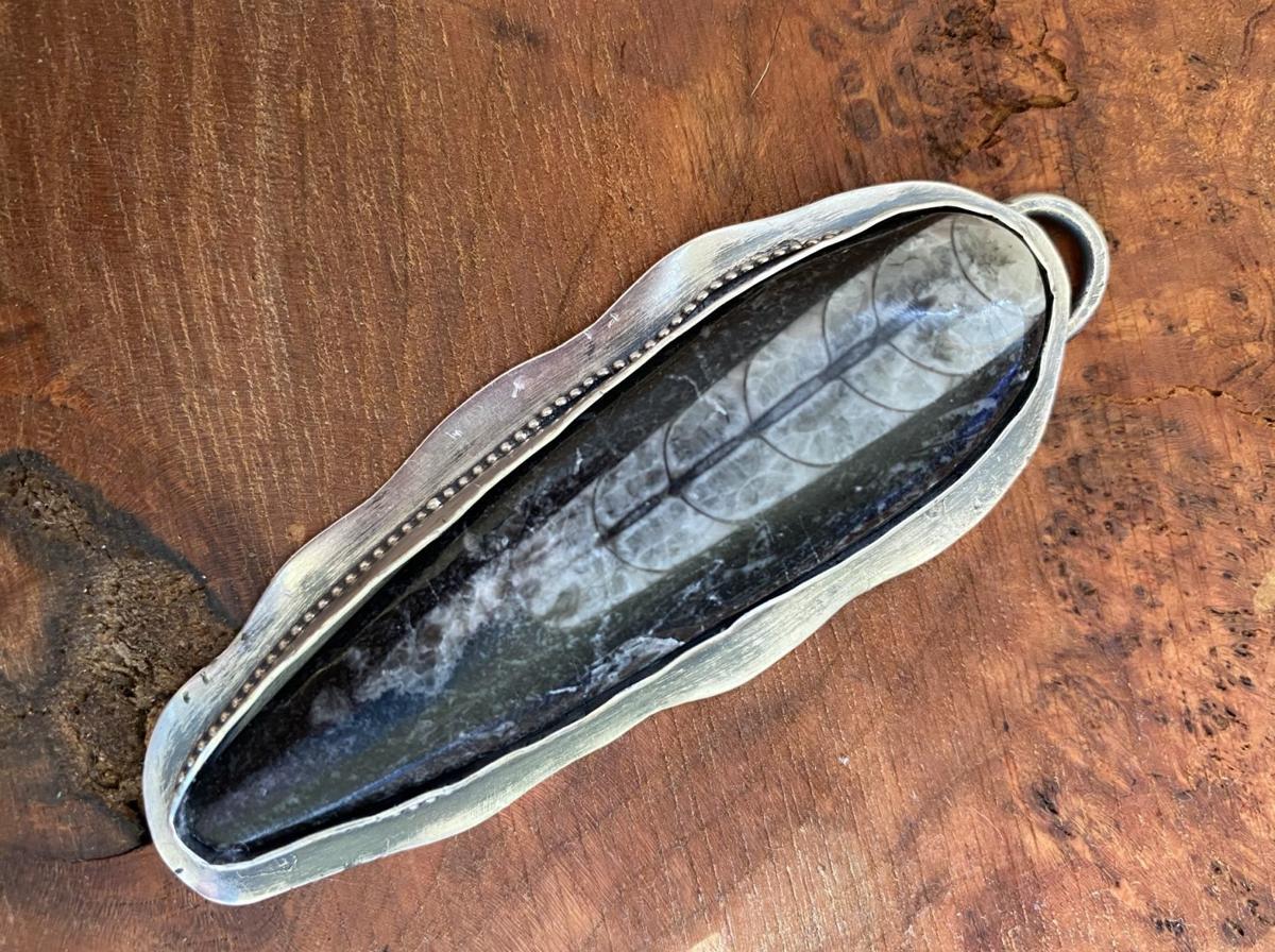 Nan Marshall silver fossil