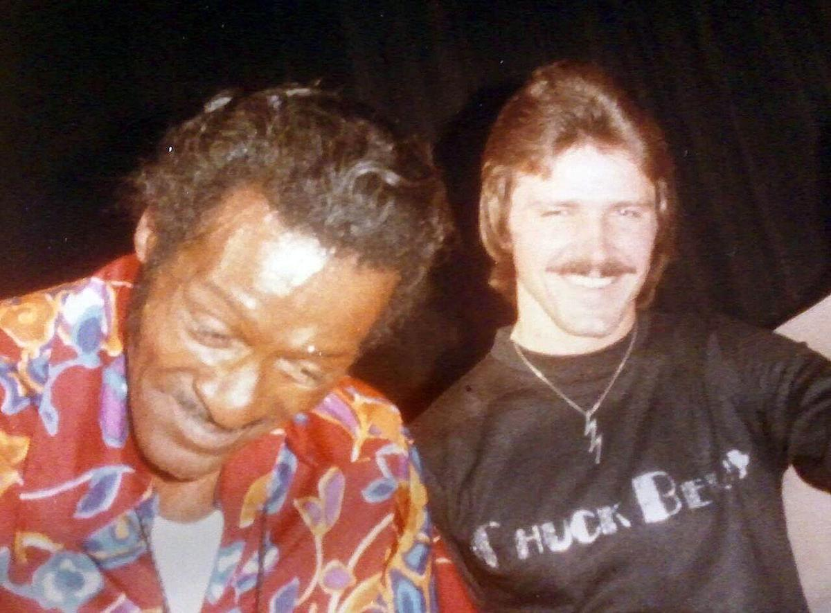 Chuck Berry and Dennis Roesler