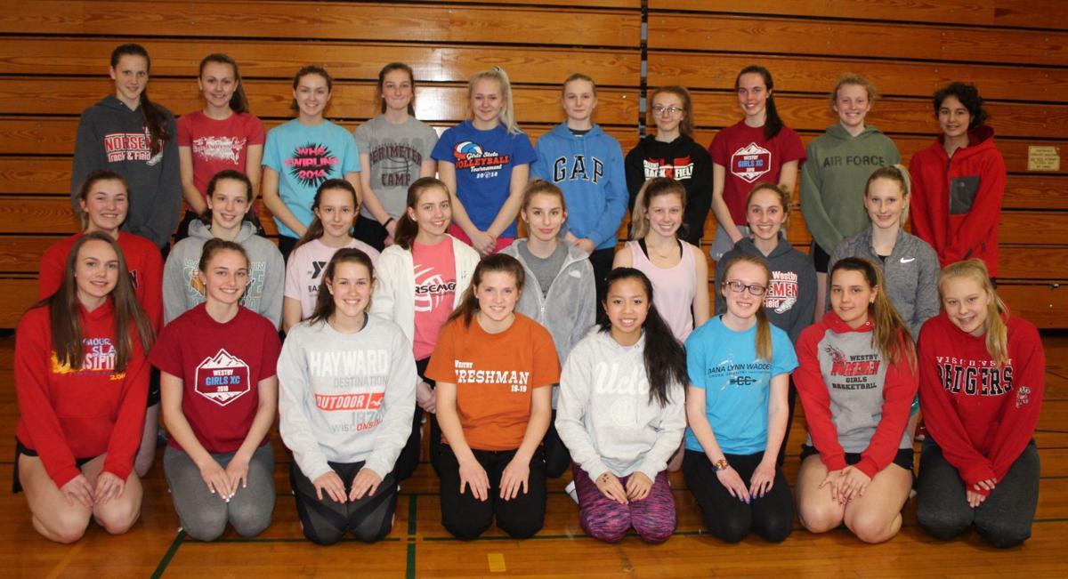 Westby High School girls track team 2019