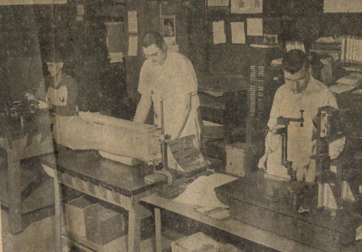 1958: Heat exchanger plant