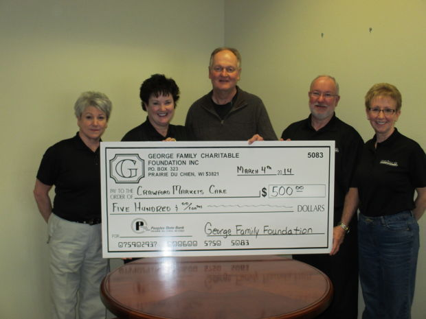 Crawford Markets Care donation