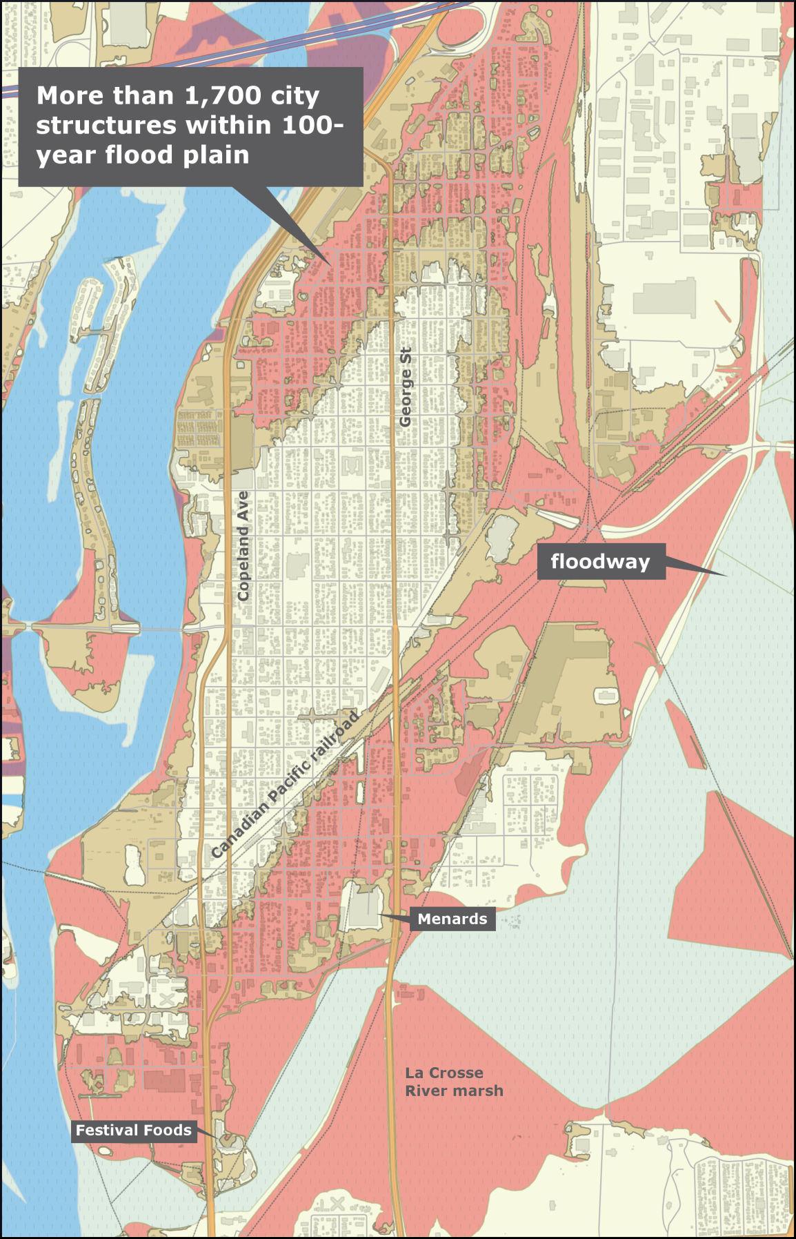 la crosse north side flood plain map