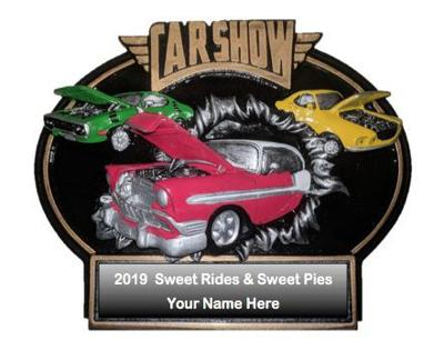 Sweet Rides and Sweet Pies car show trophy