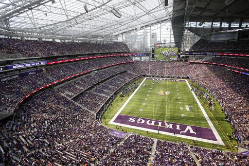 Vikings U.S. Bank Stadium, interior, AP photo