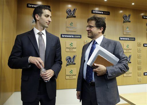 David Stearns, Mark Attanasio, AP generic file photo