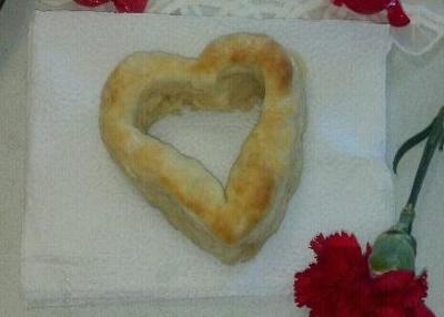 Heart-shaped biscuit