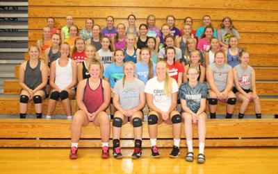 Westby High School volleyball team 2019