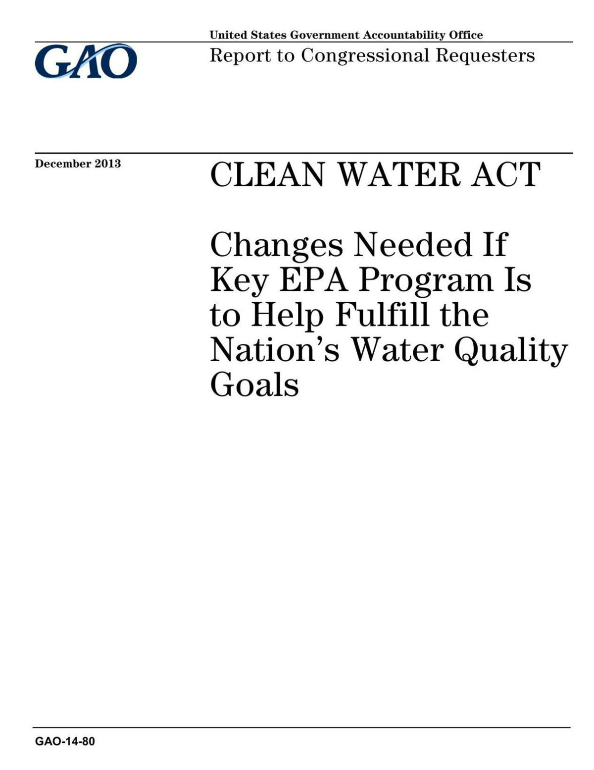 GAO on absence of controls over farm pollution