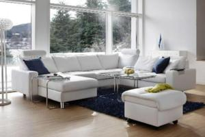 Ekornes White Sectional