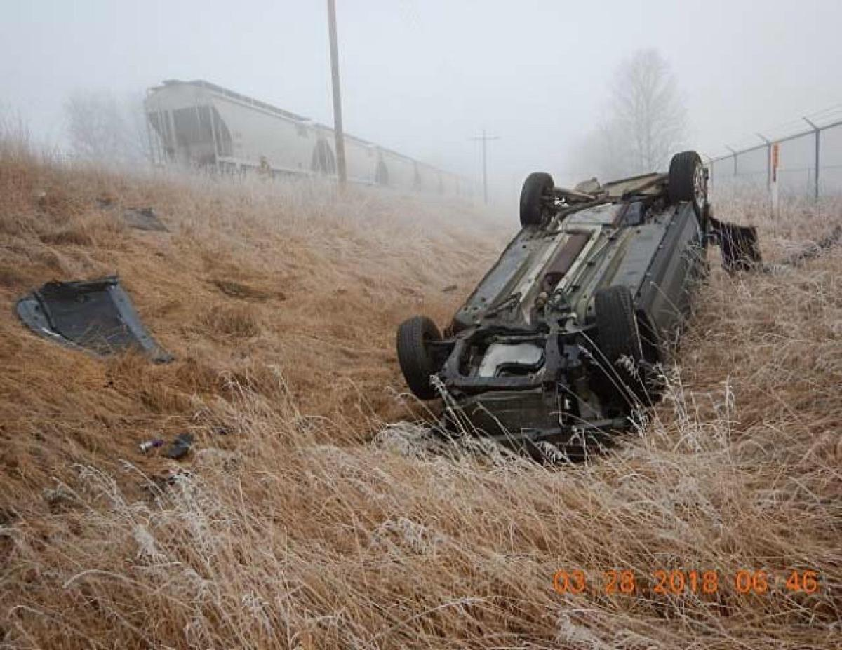 Jackson County driver escapes injury after driving into train