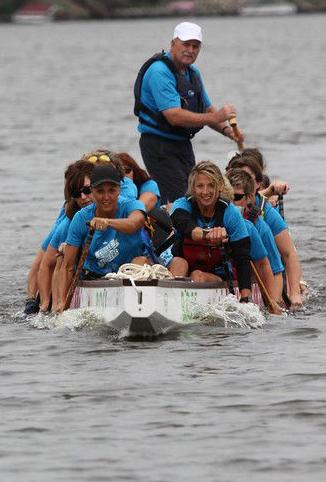 Front pic of dragon boat practice