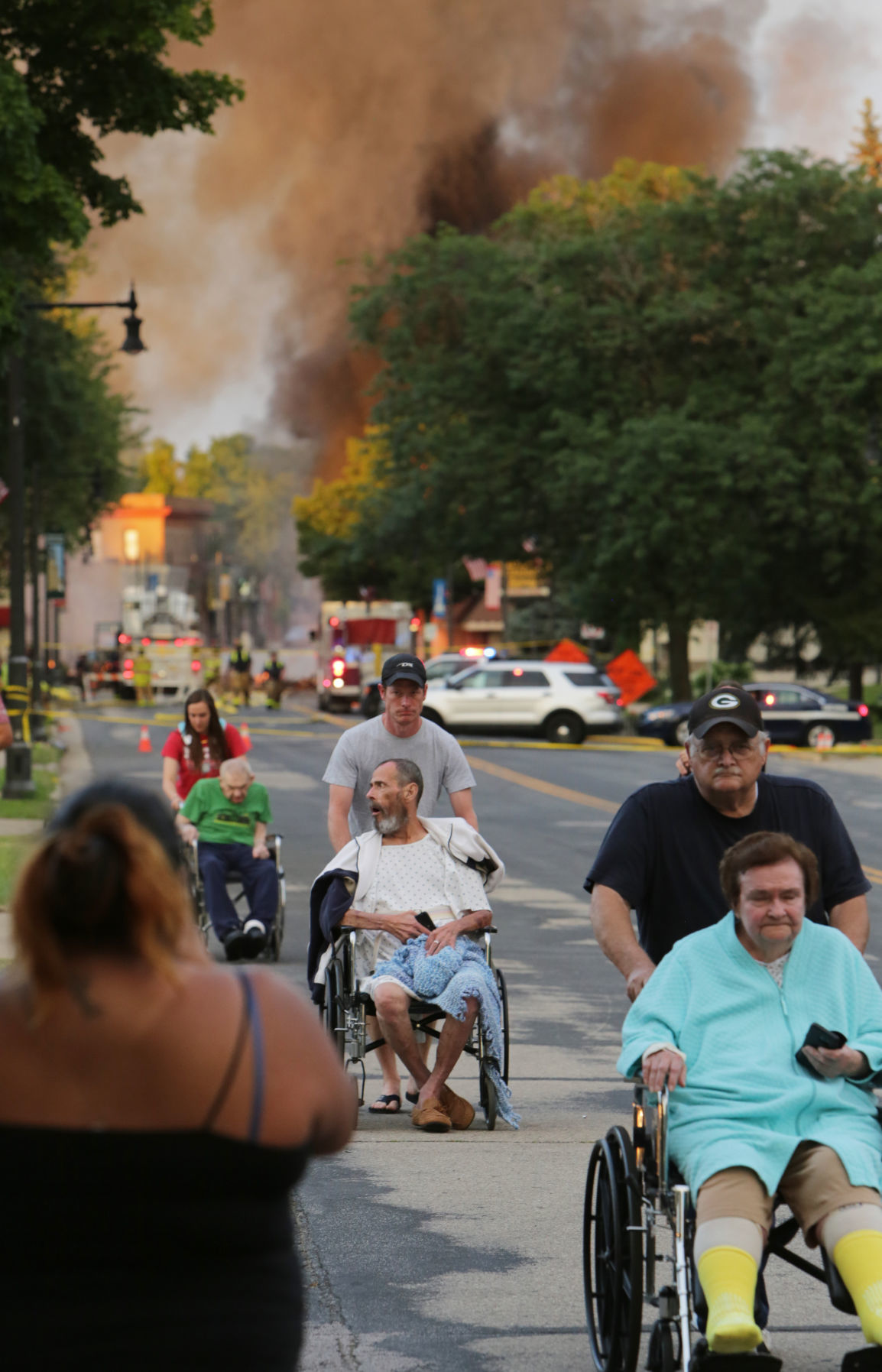 Residents of an assisted living facility evacuated