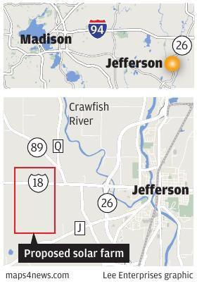 jefferson County solar farm locator map