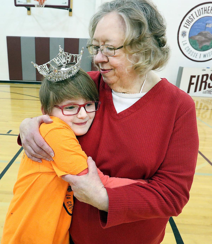 Donna Bryan hugging granddaughter Kenzie Smith