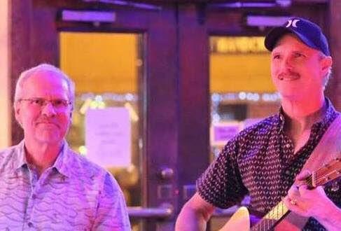 Don D. Harvey with Sam OnBongos