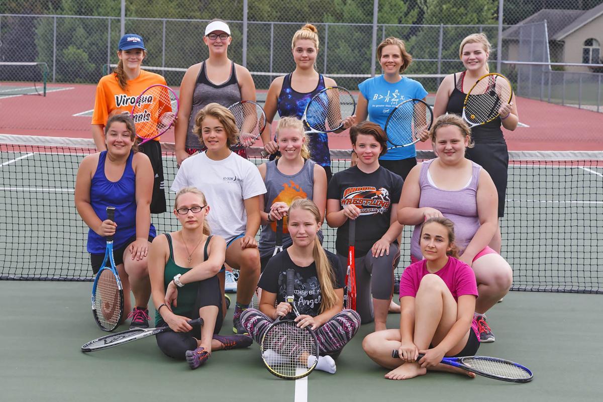 2017 Viroqua High School girls tennis team