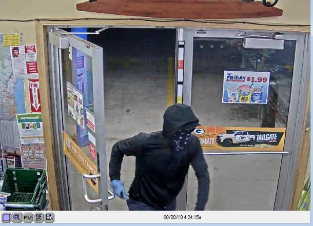 Suspect enters store