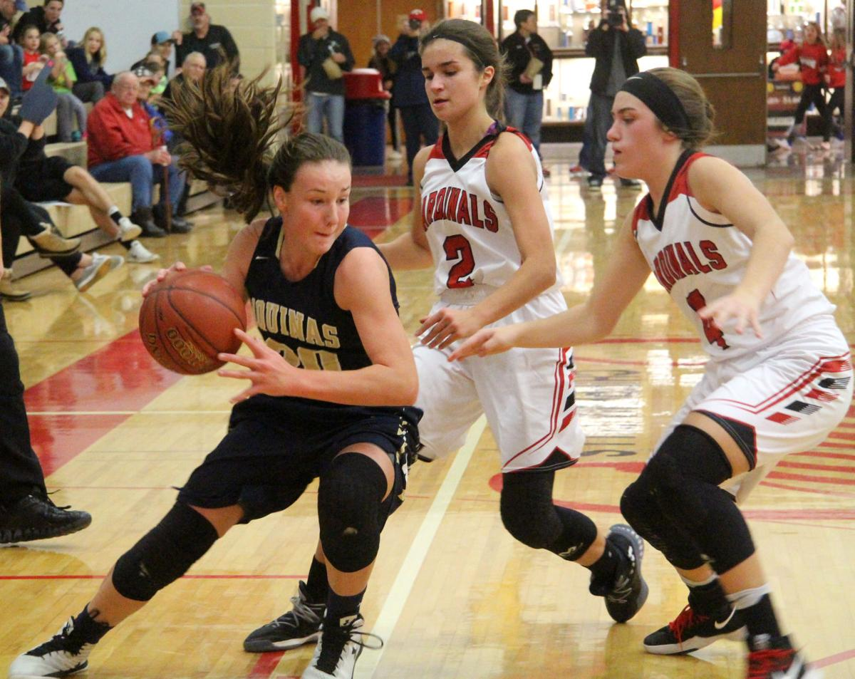 Aquinas girls basketball at Chippewa Falls 11-17-17