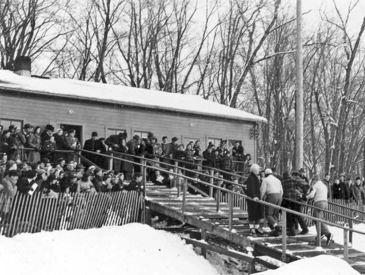 The Way it Was: 1941 speed skating spectators